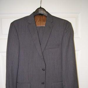 Joseph Jos A Bank Grey Stripe Slim Fit Suit - 40R